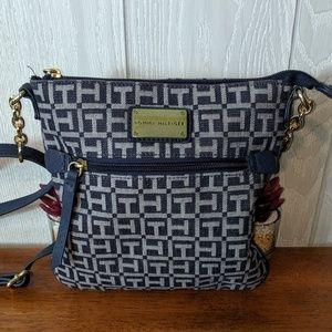 EUC Tommy Hilfiger blue Cross body purse